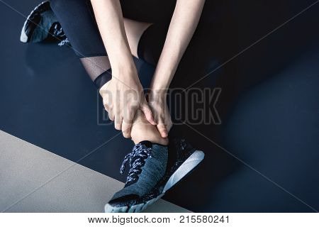 Have Ankle Cramp In Fitness Exercise Training In Gym