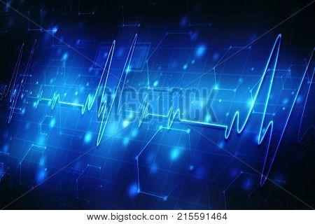 Medical abstract background, ecg  background, medical technology