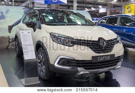 ATHENS, GREECE - NOVEMBER 14, 2017: Renault Captur at Aftokinisi-Fisikon 2017 Motor Show.