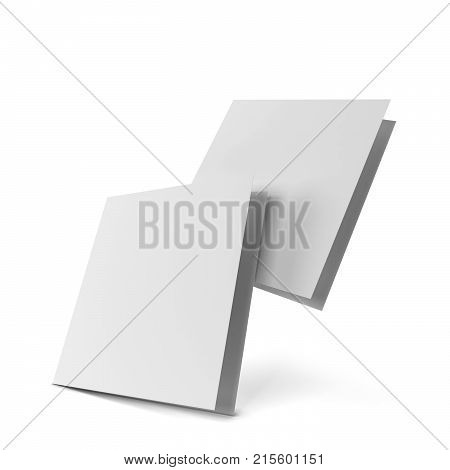 Blank Leaflet Mockup