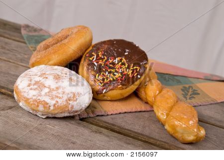 Donuts On Picnic Table