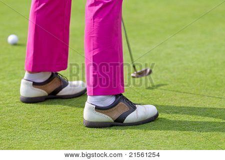 Putt On Golf Course
