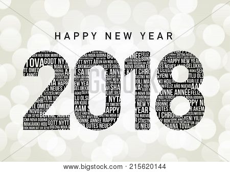 Happy New Year 2018 in different languages all over the world