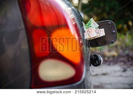 Consept Of Rising Gas Prices