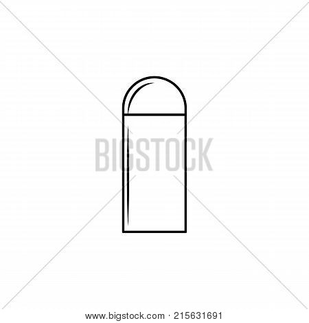 Gun bullet line icon on white background