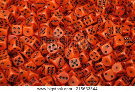 Huge pile of gambling dice