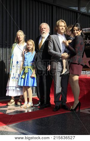 LOS ANGELES - NOV 20:  Clytie Lane, Sophie Lane Nolte, Nick Nolte, Brawley Nolte, Navi Rawat at the Nick Nolte Star Ceremony on the Hollywood Walk of Fame on November 20, 2017 in Hollywood, CA