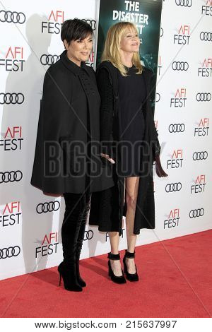 LOS ANGELES - NOV 12:  Kris Jenner, Melanie Griffith at the AFI FEST 2017
