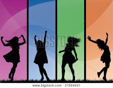 Stylish color girls