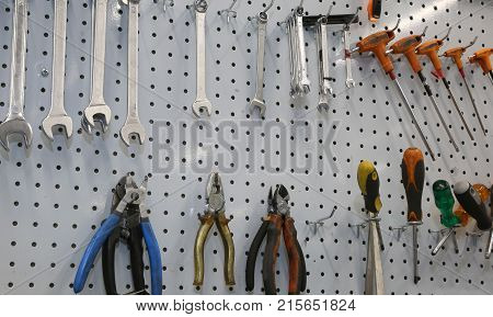 Repair Tools Of A Mechanical Workshop
