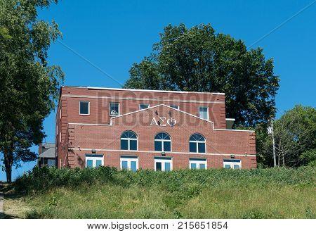 MORGANTOWN, WEST VIRGINIA - JUNE 12, 2016: Kappa Sigma Greek Letter Organization housing at West Virginia University in Morgantown