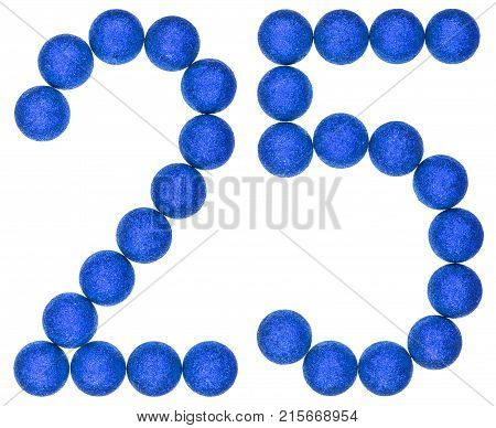 Numeral 25, Twenty Five, From Decorative Balls, Isolated On White Background