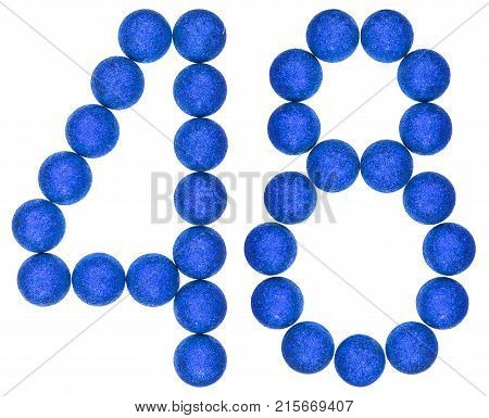 Numeral 48, Forty Eight, From Decorative Balls, Isolated On White Background