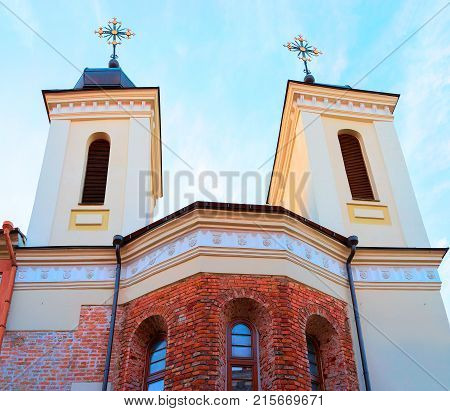 Dominican church of Holy Spirit in the Old city center in Vilnius Lithuania