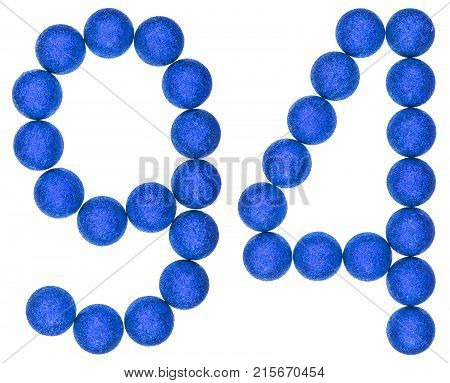 Numeral 94, Ninety Four, From Decorative Balls, Isolated On White Background
