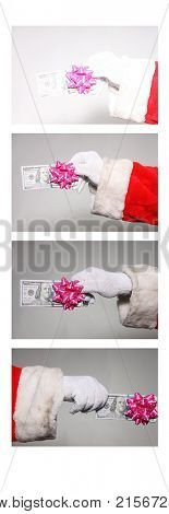 Santa Claus Photo Booth. Photo Booth picture with Santa Claus.