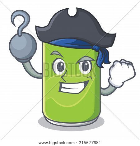 Pirate soft drink character cartoon vector illustration