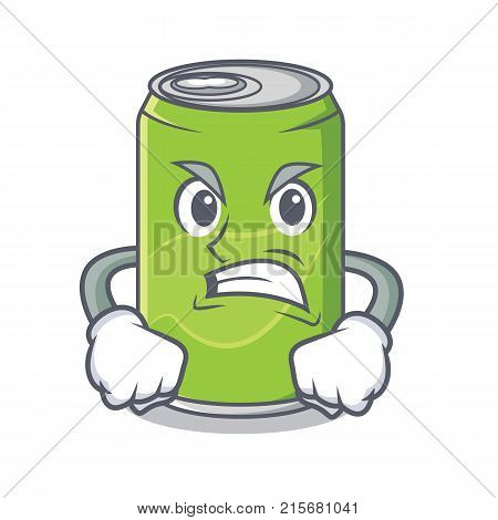 Angry soft drink character cartoon vector illustration