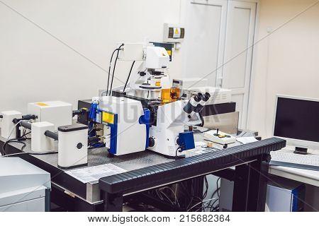 Confocal Optical Laser Scanning Microscope For Biological Samples