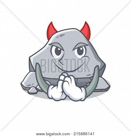 Devil stone character cartoon style vector illustration