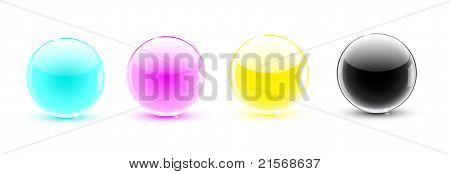 Glass Balls Cmyk