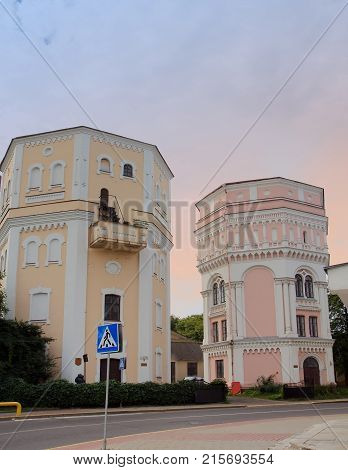 View Of The Two Old Towers In Grodno Belarus
