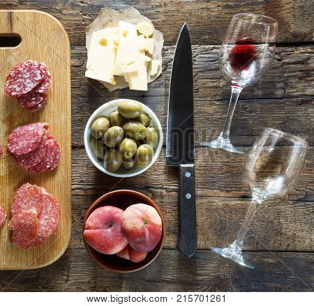 Wine Is A Bit Of A Snack. Italian Snacks Or French Snacks.