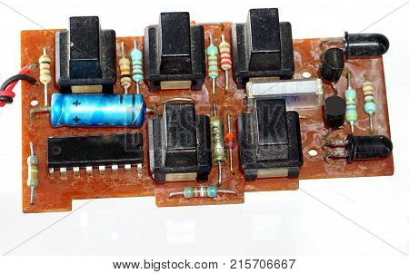 printed circuit board of the remote control circuit