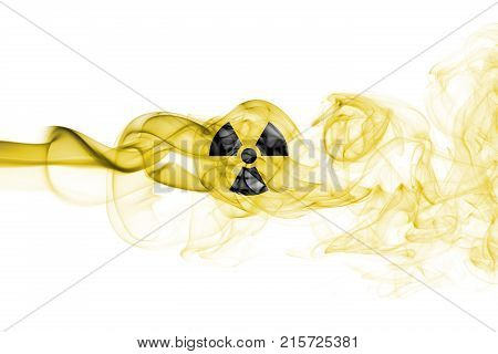 Nuclear smoke isolated on a white background