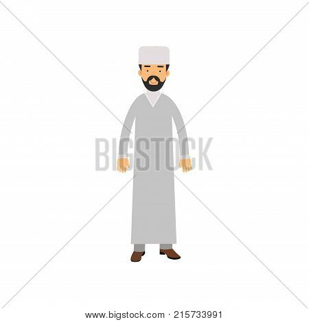 Muslim imam character, religion representative vector Illustration isolated on a white background