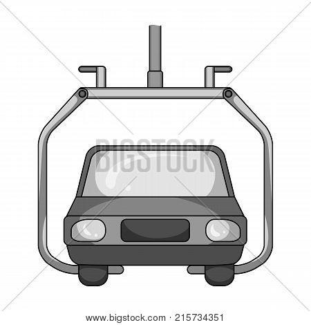 Machine, single icon in monochrome style.Machine, vector symbol stock illustration .