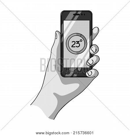 Smartphone, single icon in monochrome style.Smartphone, vector symbol stock illustration .