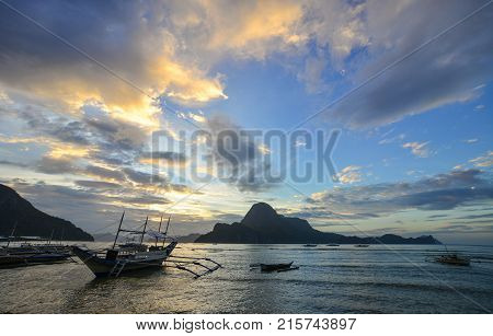 Seascape Of Coron Island, Philippines