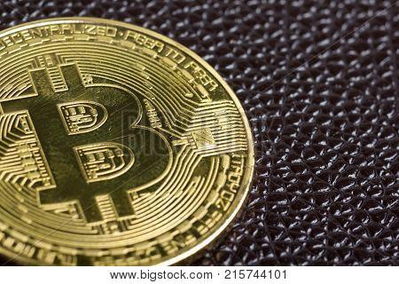 golden bitcoin coin. cryptocurrency. New virtual money