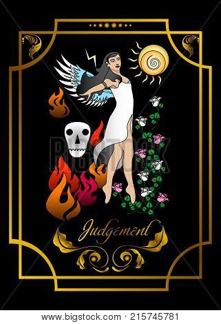the illustration - card for tarot - the judgement.