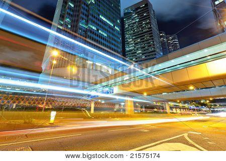 night traffic in city