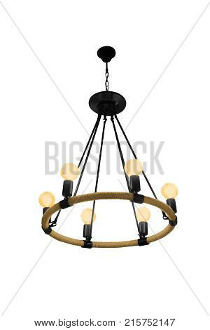 Chandelier isolated on white background with clipping path.