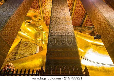 Wat Pho, Bangkok Thailand:- November 1, 2017:-: Wat Pho or the official name is Wat Pho as the oldest temple is home to a pair, Wat Pho a popular with visitors that - is open to visitors every day.