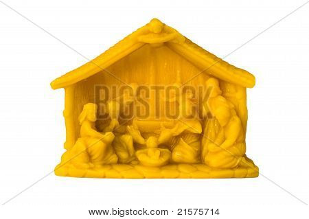 The Creche Made From Beeswax Isolated