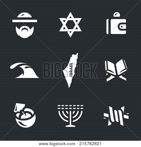 Israeli, Judaism, wallet, sea, map, torus, cocktail, menorah, barbed wire.