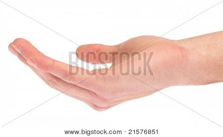 hand symbol that means ask for on white