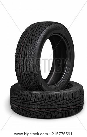 Car pile tyres sport objects background close-up