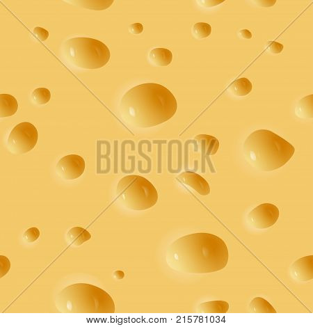 Vector seamless illustration of cheese pattern. Texture