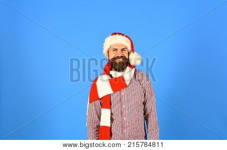 Santa With Ginger Beard And White Smile