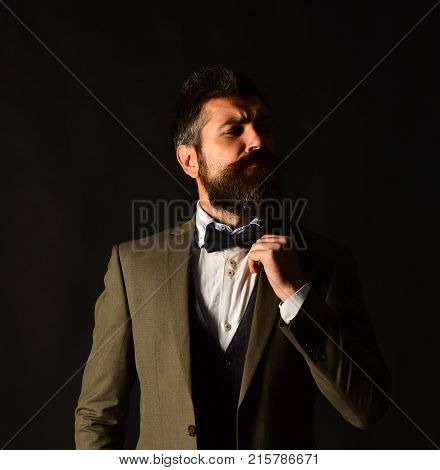 Director Or Entrepreneur With Stylish Beard And Mustache.