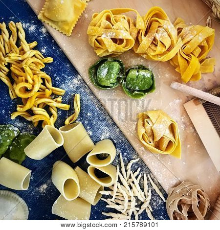 TRIESTE - ITALY, 26 November 2017: Excelllence of the Italian food are show in Trieste at the