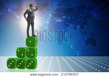 Businessman in forecasting business concept