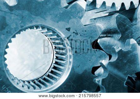 large steel gears, cogs used in the steel industry