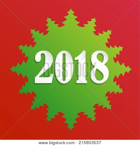 Creative happy new year 2018 design card on modern background. eps10 vector illustration
