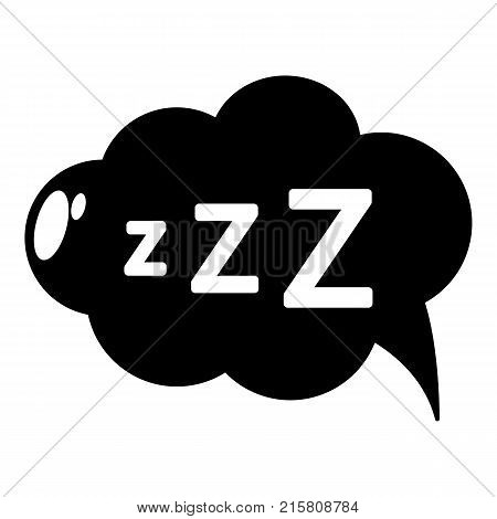 Snoring icon. Simple illustration of snoring vector icon for web